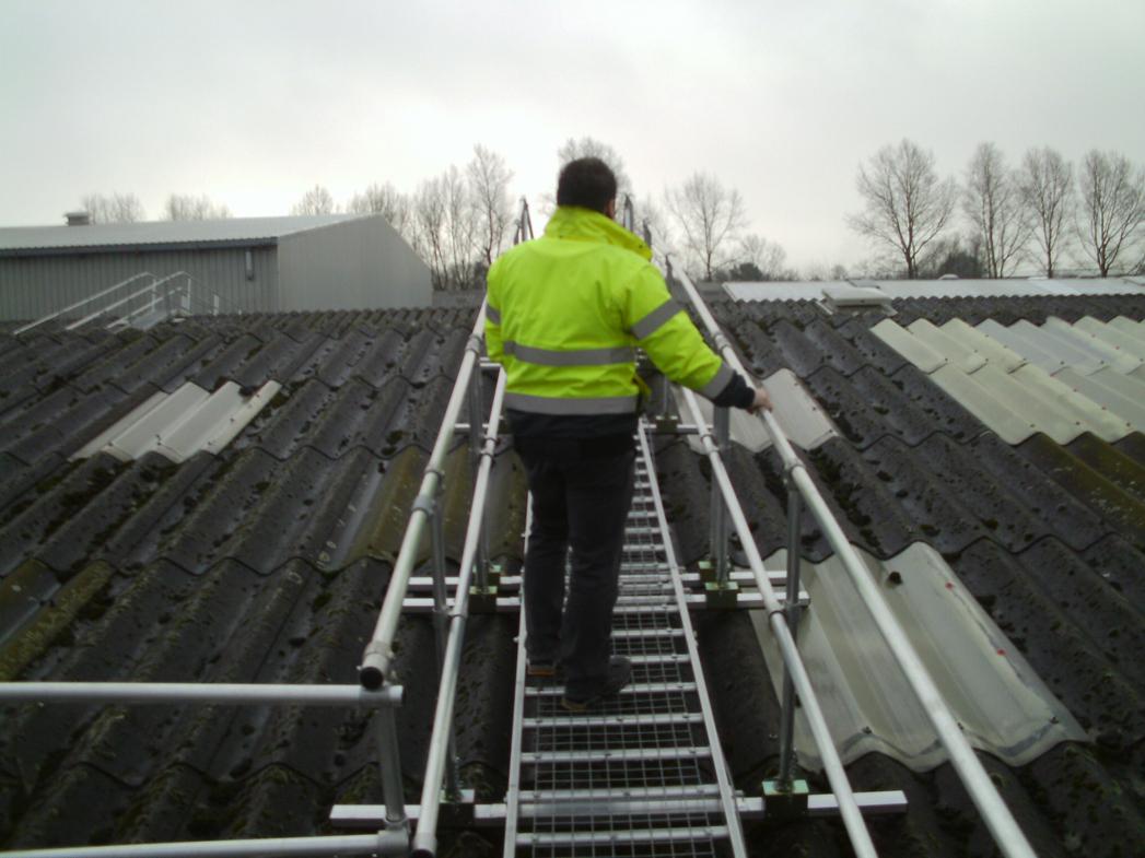 Industrial Roof Work : Hsm board walk