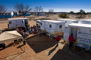 The Batho Pele Project Mobile health clinic at Gasese Village